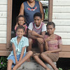 This is wonderful smiling faces travel photo of a lovely family located in Vuna Village which is located on the garden island of Taveuni in Fiji