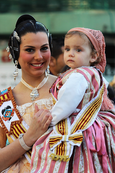 Today's smiling faces travel photo is of two adorable performers during the most popular Spanish Festival Las Fallas held annualy in Valencia, Spain