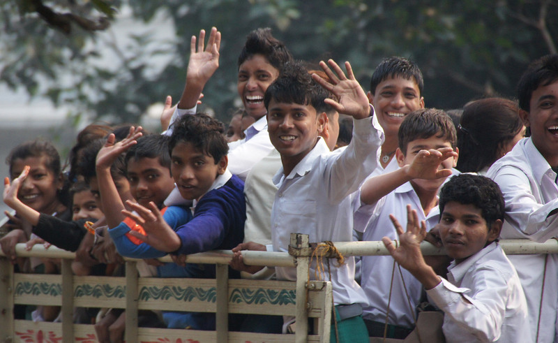 Smiling faces from India