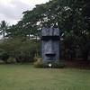 Easter Island-like statue.