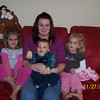 Aunt Brooke with the kids at Thanksgiving