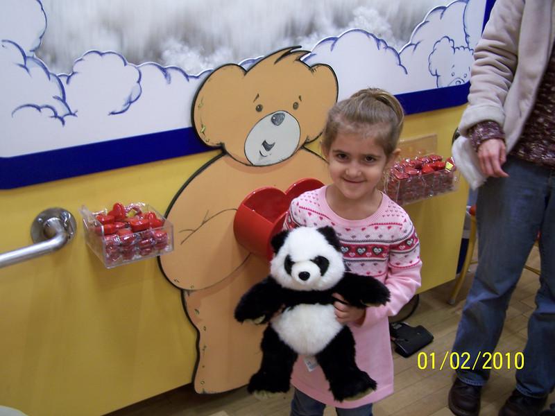 Jenna's bear just got stuffing and a heart.