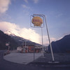 Shell service station near the Grand St. Bernard Pass