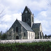 Church at Sainte-Mere-Eglise where para-trooper was caught