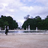 Circular pond in Les Tuileries