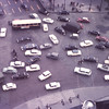 Traffic in the Etoile as seen from the top of the Arch of Triumph-Paris