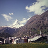 The Matterhorn & the village of Zermatt
