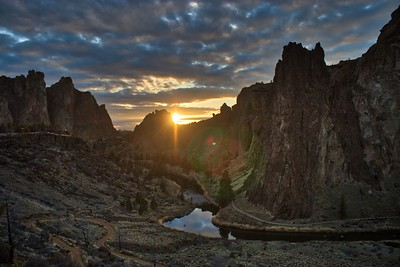 Sunset over Smith Rock State Park