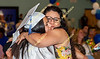 Graduating Seniors receive hugs from family and friends.