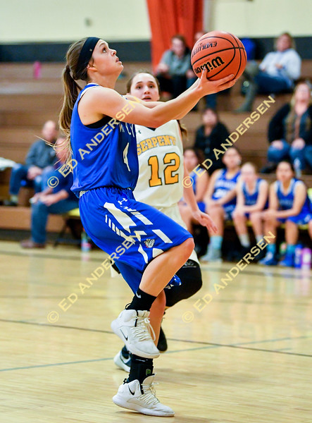 Girls Varsity Basketball, Smith Valley vs. Mineral County at Mineral County High School.