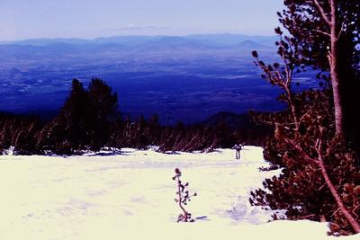 Skiing up