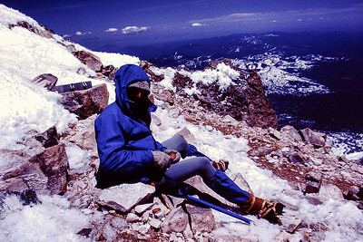 Jeff at the top of Mt Shasta