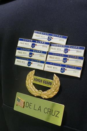 The Honor Guard's Corporal Edgard Delacruz  name plate