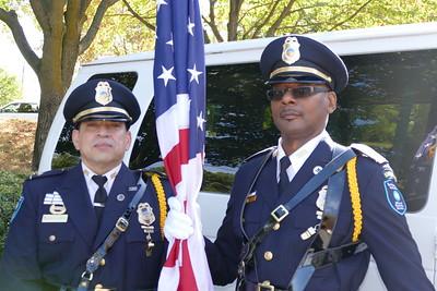 Corporal Edgard Delacruz and Corporal Robert Bell of the Honor Guard
