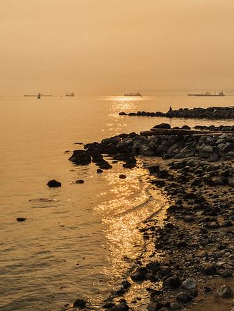 Smokey Skies at English Bay
