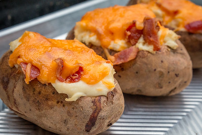 Smoked Twice Baked Potatoes