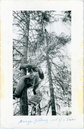 George getting out of a tree at Butter Creek