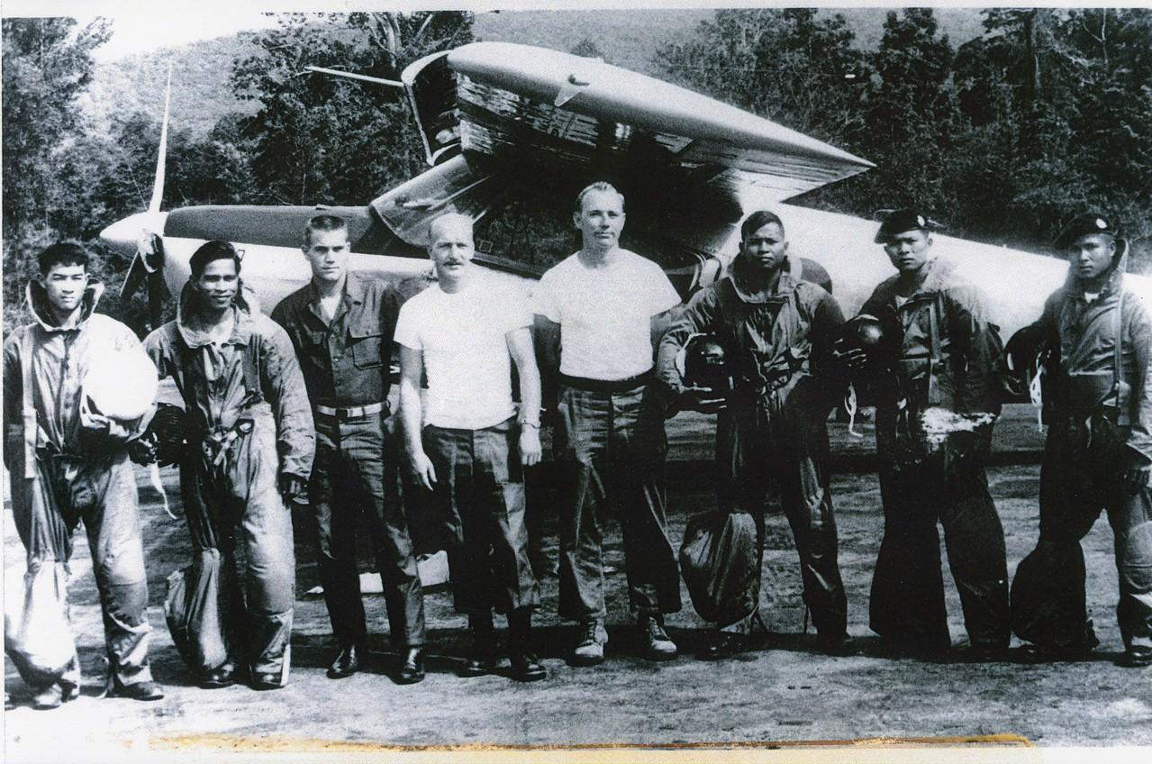 Pitsanoulk Camp Northern Thailand 1964 Thai PARU (Police Aerial Reinforcement Unit) training. 1964