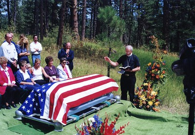 Ken Smith's funeal; Idaho City, ID 1997