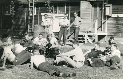 Relaxing at Camp Paxton. 1944.