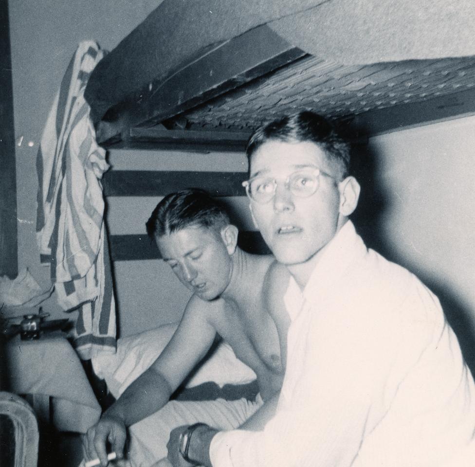 L-R: Dick Courson (CJ-46), Don Wallace (CJ-49)