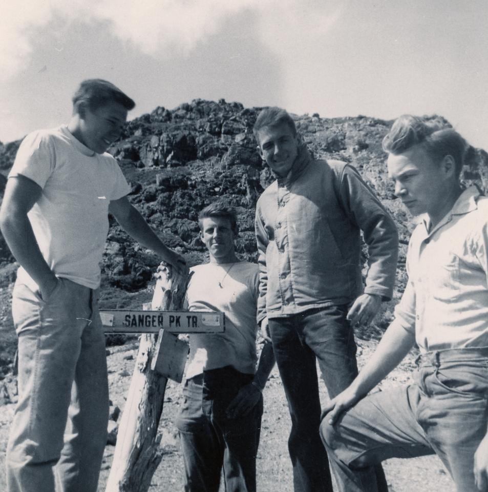 L-R:  Fred Michelotti (CJ-49) , Orv Looper (CJ-49), Armand Riza (CJ-48) , Bob Scofield CJ-49)