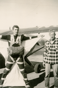 Bob Nolan (CJ-47) Batwing freefall outfit (wingsuit); 1949