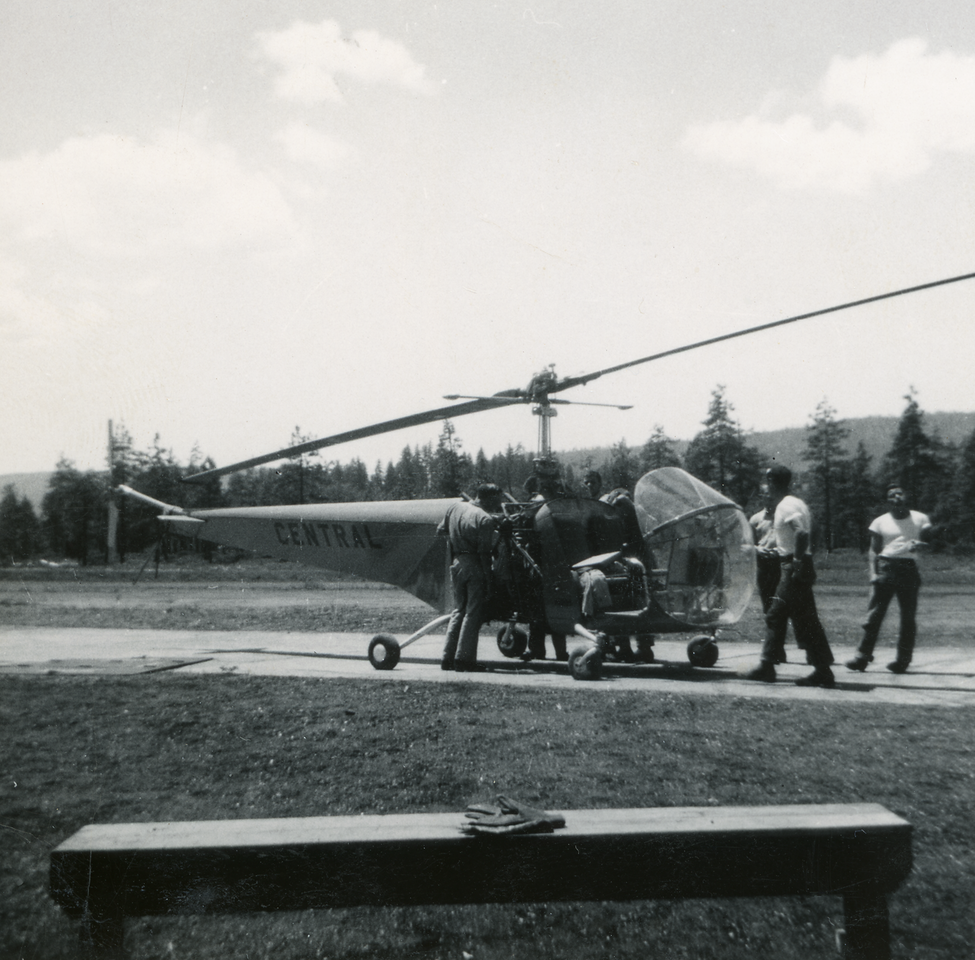 Helicopter Training Cave Junction; 1949