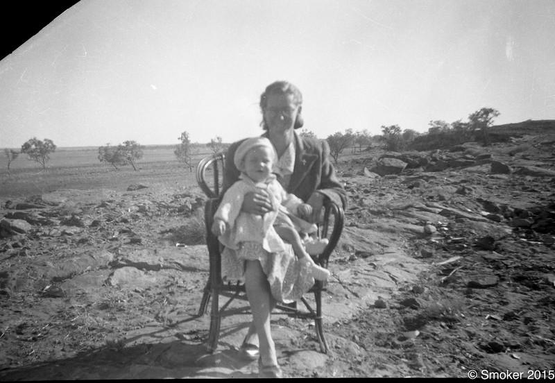 1953 Pearl with Joel in dry season