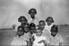 1953 First children at hostel and school.  Jim Shandley, Joy Rivers, Cyril Churchill, Frankie Smiler