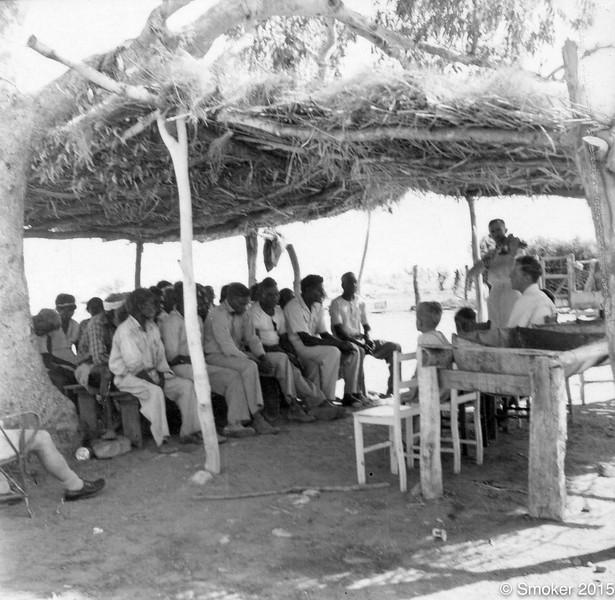 1953 Church service