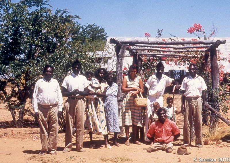 1955 Mission, Moola Bulla people, Cissy Rivers, Monty Hale, Micky Moorday