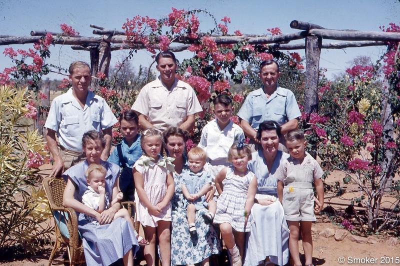 1955 missionaries, Bruce and Pearl Smoker,  Roy and Mel Nash and Preston and Kath Walker
