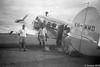 1953 MacRobertson Miller Airlines landing in Fitzroy