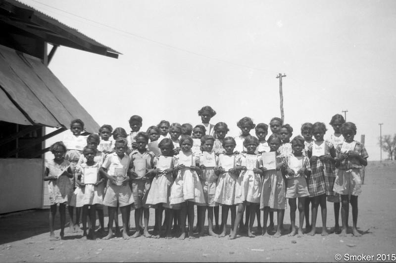 1955 School Class. Pearl as teacher taking photo.
