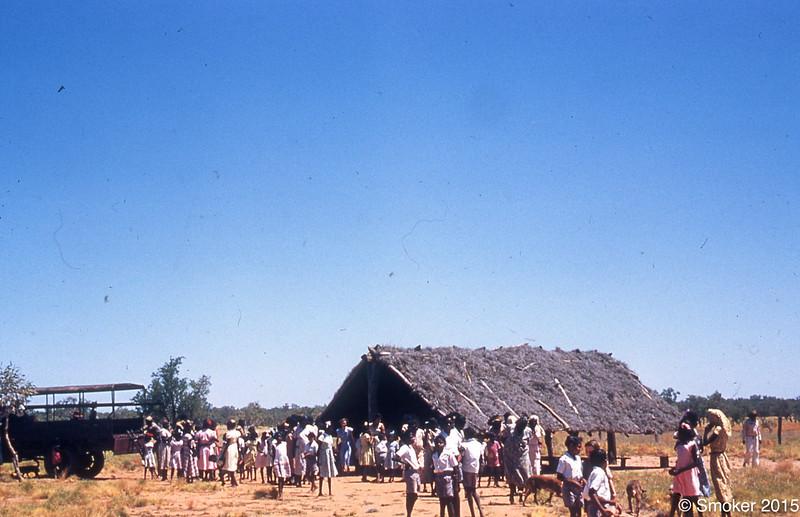1956 Leaving church