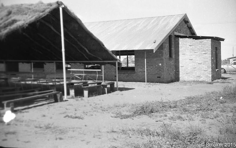 1971 New brick church beside bough shed church