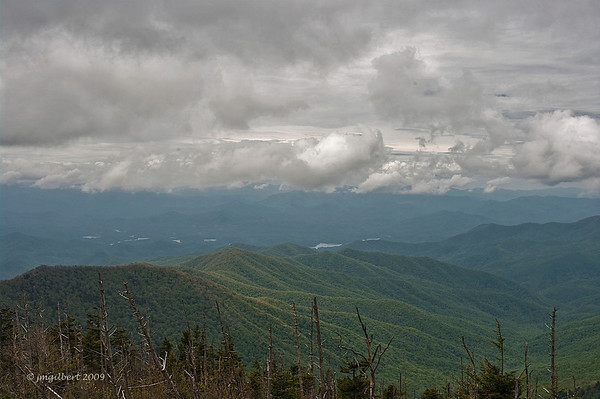 Spring 2009: View from Clingmans Dome. Post processing in cs4 to bring out the storm(Move your cursor over the right side of the picture and click on Photo Info for details of this shot.)