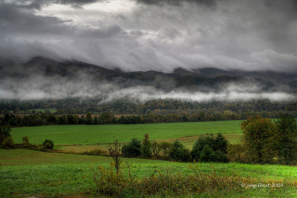 Fall 2009: Cades Cove.  Bracketed and processed as HDR in Photomatrix.