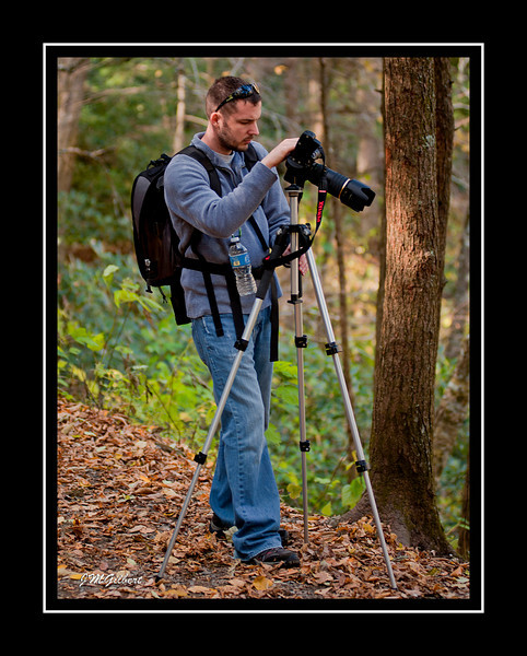 _NJG3593: Dave Pepon setting up to take pictures.
