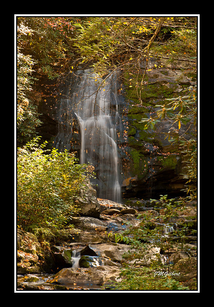 PJG2259: Meigs Falls drops 28 feet and can be observed from a pull out on the road.  There is no trail to this falls.