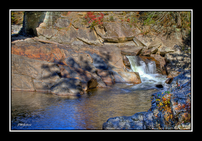 PJG2269_70_71_HDR: The Sinks.  Here the Little River drops drastically over Sandstone and is 40 feet wide.