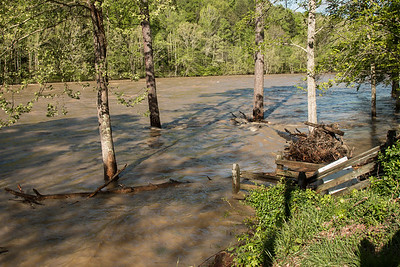 4-25-17.  Another view of flooding and debris.