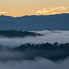103120.  On to the Smokies.  This is why you get up hours before dawn.  View from the Foothills Parkway