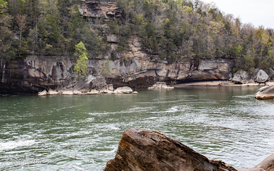 Across from below the Falls.