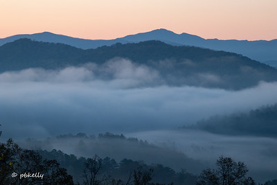 Might as well start with sunrise scenes.  From Foothills Parkway.  This is why you get up at 4:30 AM to get there.