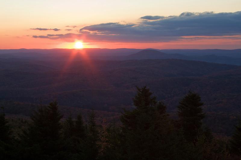 Sunset on Spruce Nob.