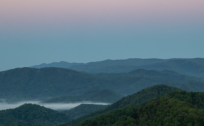 We did our before sunrise shots this year from a new section of the Foothills Parkway.  I think I liked the old overlook better,