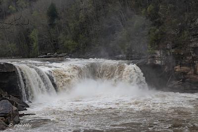Cumberland Falls after a rain.
