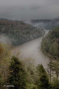 4/26/18.  View of the Cumberland River from the Lodge.